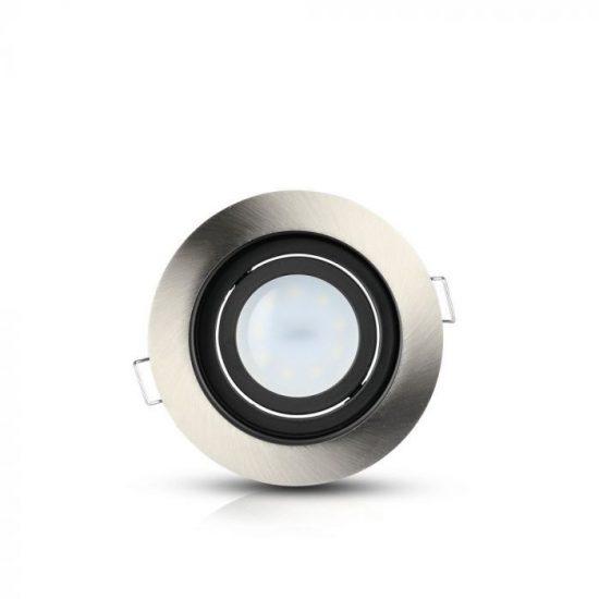 V-TAC LED SPOT BEÉPÍTŐ KERET / GU10 / 1-foglalat / nikkel / kerek / billenthető / VT- 781 3596