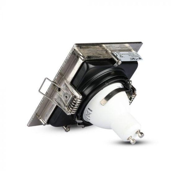 V-TAC LED SPOT BEÉPÍTŐ KERET / GU10 / 1-foglalat / nikkel / szögletes / billenthető / VT- 781 3598