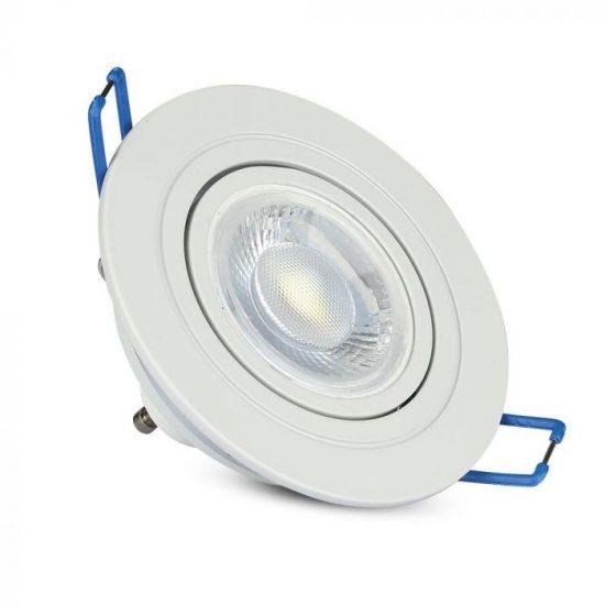 V-TAC LED SPOT BEÉPÍTŐ KERET / GU10 / 1-foglalat / fehér / kerek / billenthető / VT- 782 3599