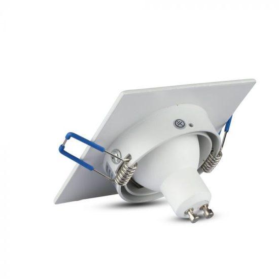 V-TAC LED SPOT BEÉPÍTŐ KERET / GU10 / 1-foglalat / fehér / szögletes / billenthető / VT- 782 3605