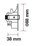 V-TAC GU10 beépítő keret / fehér / VT-786 3612