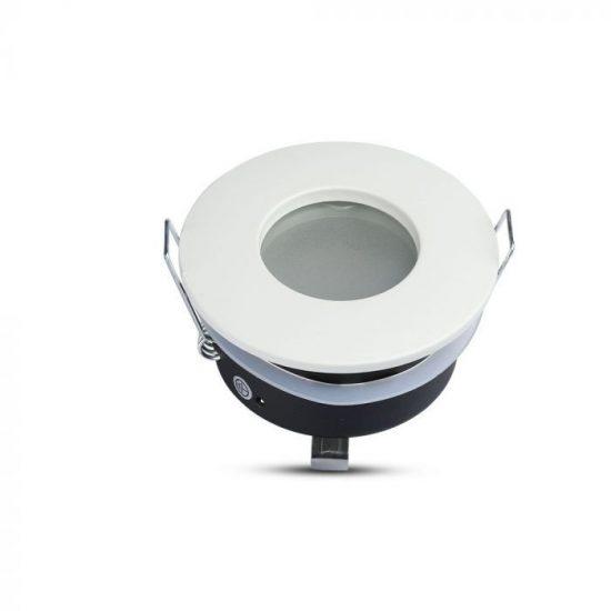 V-TAC LED SPOT KÜLTÉRI BEÉPÍTŐ KERET / GU10 /1-foglalat / fehér / kerek / billenthető / VT-787 3613