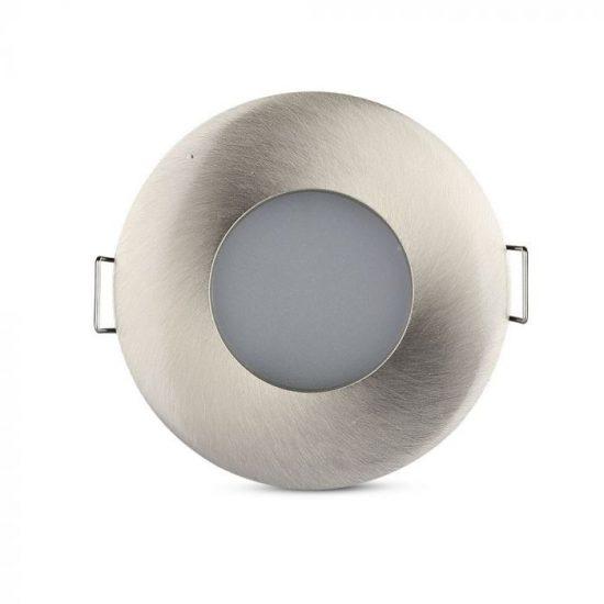 V-TAC LED SPOT KÜLTÉRI BEÉPÍTŐ KERET / GU10 /1-foglalat / nikkel / kerek / billenthető / VT-787 3614