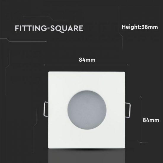 V-TAC LED SPOT KÜLTÉRI BEÉPÍTŐ KERET / GU10 /1-foglalat / fehér / szögletes / billenthető / VT-787 3615