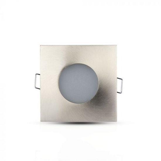 V-TAC LED SPOT KÜLTÉRI BEÉPÍTŐ KERET / GU10 /1-foglalat / nikkel / szögletes / billenthető / VT-787 3616