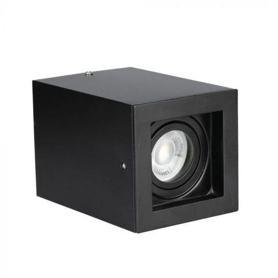 V-TAC LED SPOT FELÜLETRE SZERELHETŐ KERET / GU10 / 1-foglalat / fekete / szögletes / billenthető / VT- 797 3631
