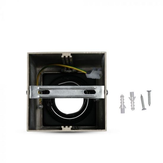 V-TAC LED SPOT FELÜLETRE SZERELHETŐ KERET / GU10 / 1-foglalat / nikkel / szögletes / billenthető / VT- 797 3632