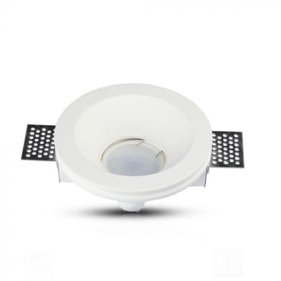 V-TAC LED SPOT BEÉPÍTŐ GIPSZKERET / GU10 / 1-foglalat / fehér / kerek / fix / VT- 776 3640