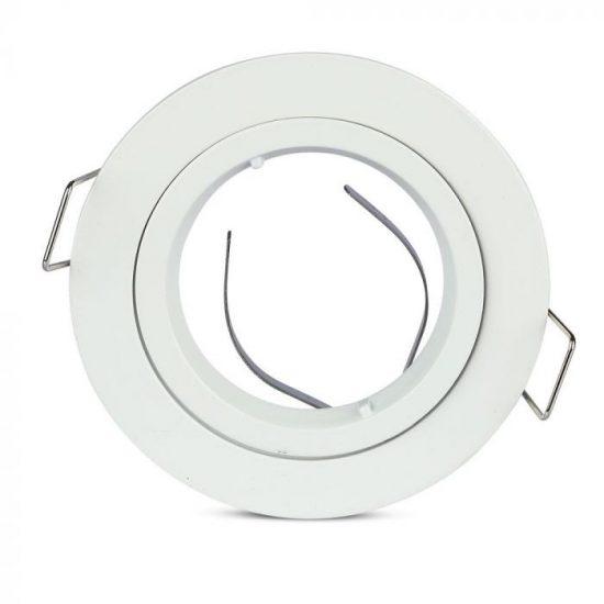 V-TAC LED SPOT BEÉPÍTŐ KERET / GU10 /1-foglalat / fehér / kerek /fix / VT-774 3642