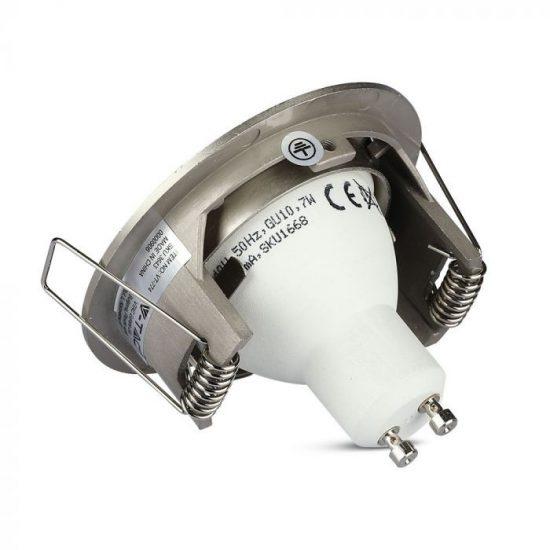 V-TAC GU10 beépítő keret / nikkel / VT-774 3643
