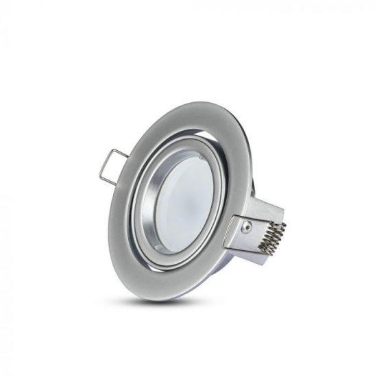 V-TAC LED SPOT BEÉPÍTŐ KERET / GU10 /1-foglalat / nikkel / ezüst szürke / billenthető / VT-775 3647