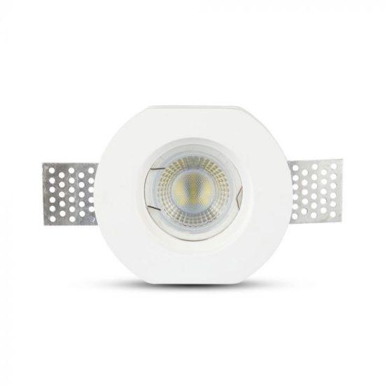 V-TAC LED SPOT BEÉPÍTŐ GIPSZKERET / GU10 / 1-foglalat / fehér / kerek / fix / VT- 764 3650