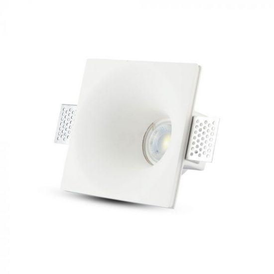 V-TAC LED SPOT BEÉPÍTŐ GIPSZKERET / GU10 / 1-foglalat / fehér / szögletes / fix / VT- 772 3653