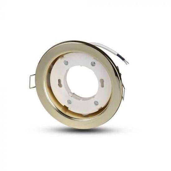 V-TAC LED SPOT BEÉPÍTŐ KERET / GX53 /1-foglalat / arany / kerek / fix / VT-715 3676