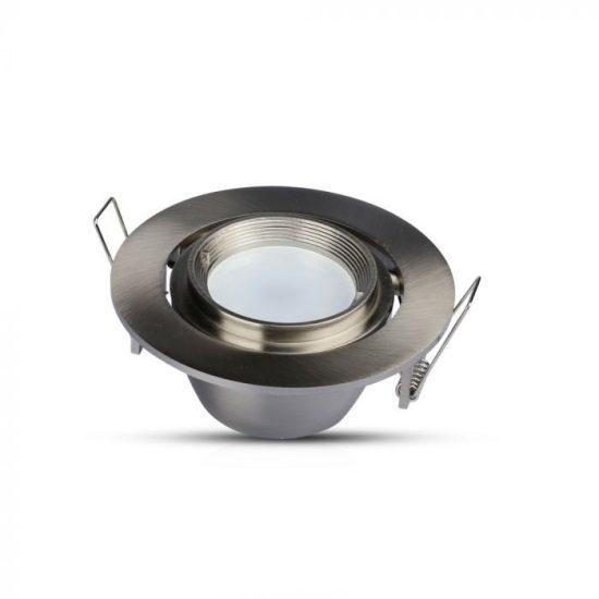 V-TAC LED SPOT BEÉPÍTŐ KERET / GU10 /1-foglalat / nikkel / kerek / billenthető / VT-700 3690