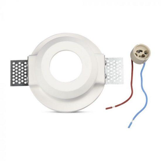 V-TAC LED SPOT BEÉPÍTŐ GIPSZKERET OPÁL ÜVEGGEL / GU10 / 1-foglalat / fehér / kerek / fix / VT- 801 3692