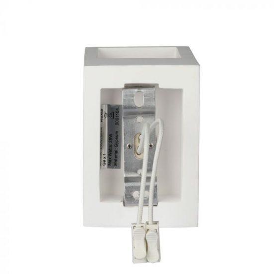 V-TAC LED SPOT OLDALFALI GIPSZKERET / G9 / 1-foglalat / fehér / szögletes / fix / VT-858 3695