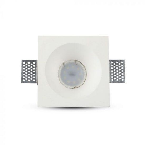 V-TAC LED SPOT BEÉPÍTŐ GIPSZKERET / GU10 / 1-foglalat / fehér / szögletes / fix / VT- 859 3696