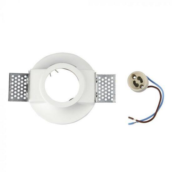 V-TAC LED SPOT BEÉPÍTŐ GIPSZKERET / GU10 / 1-foglalat / fehér / kerek / fix / VT- 859 3697