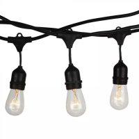 V-TAC LED FÜZÉR E27 FOGLALATTAL / 5m / max. 40W x10 / E27 x 10 / fekete / VT-7135 3698