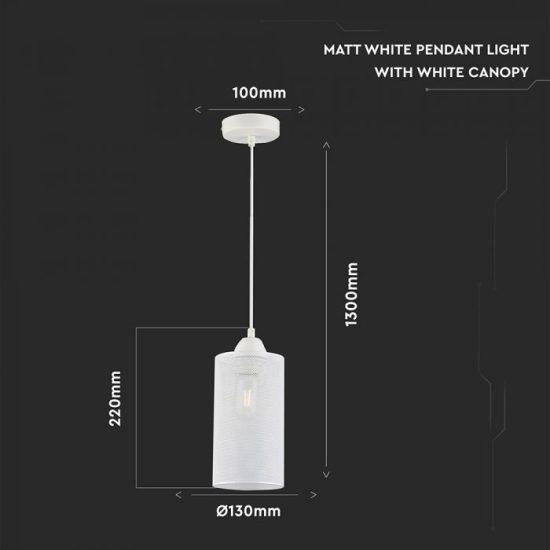 V-TAC Hálós fém függeszték - fehér szín/VT-7132/ 3829
