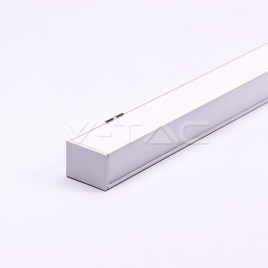 V-TAC LED LINEÁR LÁMPATEST SODRONYOS FÜGGESZTÉKKEL / 40W / toldható / nappali fehér - 4000K / fehér / VT-7-43 PRO383