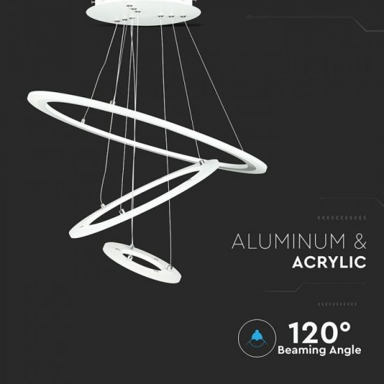 V-TAC LED DIMMELHETŐ CSILLÁR / 70W / fehér / meleg fehér - 3000K / 5250lumen / VT-70-3 3904