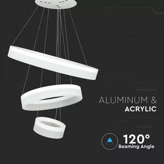 V-TAC LED DIMMELHETŐ CSILLÁR / 80W / fehér / meleg fehér - 3000K / 6400lumen / VT-80-3 3906