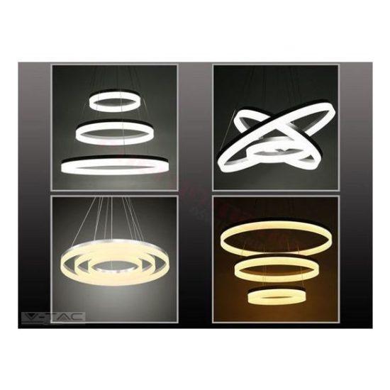 V-TAC LED DIMMELHETŐ CSILLÁR / 80W / fehér / nappali fehér - 4000K / 6400lumen / VT-80-3 3907