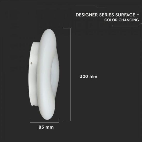V-TAC LED DESIGN MENNYEZETI LÁMPA / 22W / Dimmelhető / 3 in 1 vezérlővel / VT-7308 3966