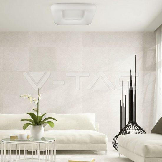 V-TAC 40W LED dimmelhető design csillár szögletes fehér/VT-7463/3971