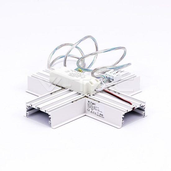 V-TAC LED X TOLDÓ ELEM SÜLLYESZTHETŐ LINEÁR LÁMPATESTHEZ / 16W / nappali fehér - 4000K / fehér / VT-7-42-X PRO399