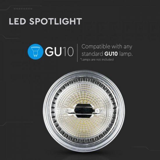 V-TAC LED SPOT / GU10 / 12W / 40° / hideg fehér - 6400K / AR111 / 900lumen / VT-1112 4225