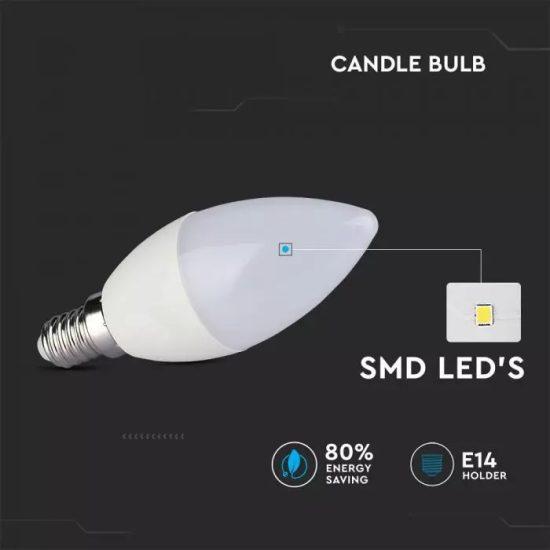 V-TAC LED IZZÓ / E14 / 5,5W / VT-1855 nappali fehér 42581