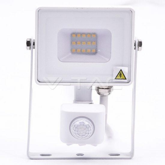 V-TAC LED MOZGÁSÉRZÉKELŐS REFLEKTOR / Samsung chip / 10W / fehér  / VT-10-S hideg fehér 435