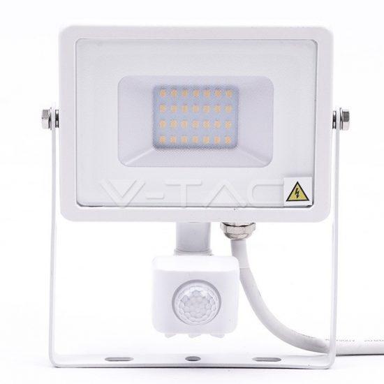 V-TAC LED MOZGÁSÉRZÉKELŐS REFLEKTOR / Samsung chip / 20W / fehér  / VT-20-S hideg fehér 450