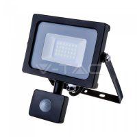 V-TAC LED MOZGÁSÉRZÉKELŐS REFLEKTOR / Samsung chip / 20W / fekete / VT-20-S meleg fehér 451