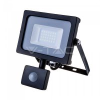 V-TAC LED MOZGÁSÉRZÉKELŐS REFLEKTOR / Samsung chip / 20W / fekete / VT-20-S nappali fehér 452