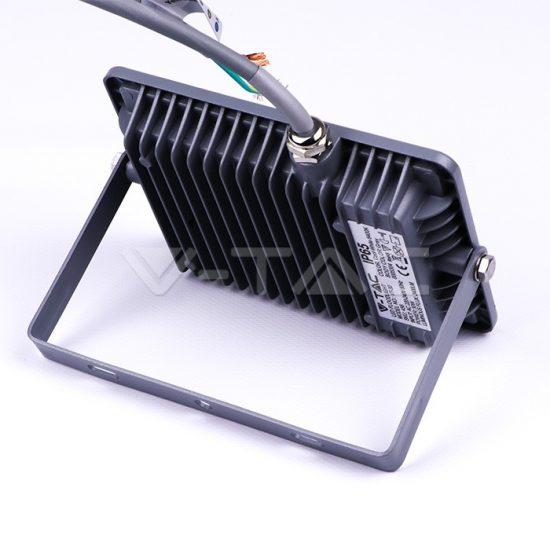 V-TAC LED REFLEKTOR / Samsung chip / 30W /  Szürke /  VT-30 nappali fehér 455