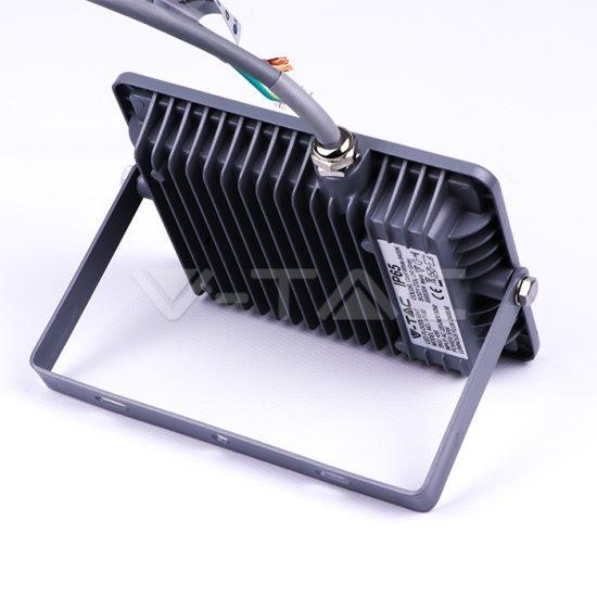 V-TAC LED REFLEKTOR / Samsung chip / 30W /  Szürke /  VT-30 hideg fehér 456