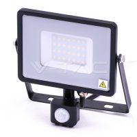 V-TAC LED MOZGÁSÉRZÉKELŐS REFLEKTOR / Samsung chip / 30W / fekete / VT-30-S nappali fehér 461