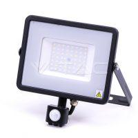 V-TAC LED MOZGÁSÉRZÉKELŐS REFLEKTOR / Samsung chip / 50W / fekete / VT-50-S nappali fehér 470