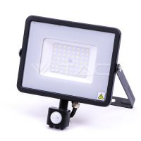 V-TAC LED MOZGÁSÉRZÉKELŐS REFLEKTOR / Samsung chip / 50W / fekete / VT-50-S hidegfehér 471