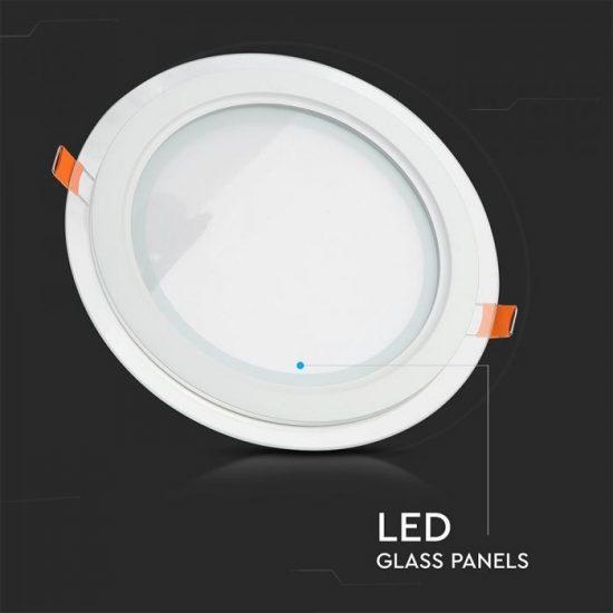 V-TAC MINi LED PANEL / 6W / KÖR / 100mm / VT-602G  meleg fehér 4740