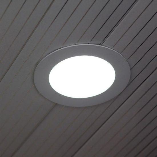 V-TAC ÜVEG LED PANEL / 12W / KÖR / 160mm / VT-1202G  / hideg fehér 4743