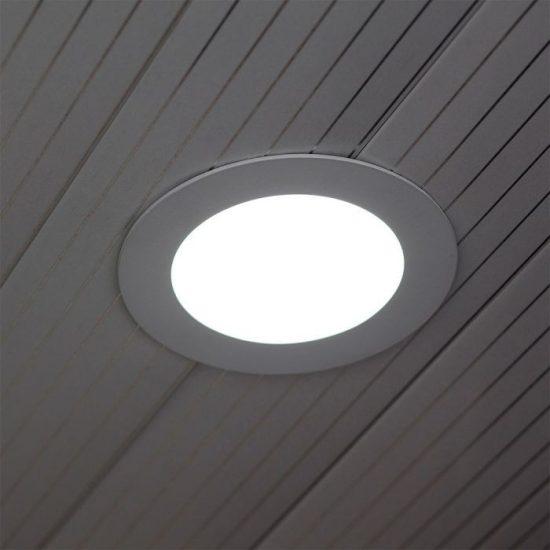 V-TAC ÜVEG LED PANEL / 18W / KÖR / 200mm / VT-1881G  / hideg fehér 4759