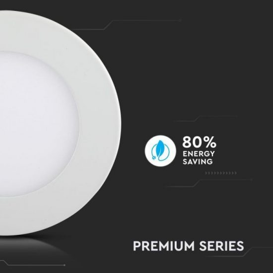 V-TAC PRÉMIUM LED PANEL / 12W / KÖR / 170mm / VT-1207RD hideg fehér 4859
