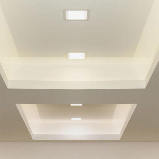 V-TAC PRÉMIUM LED PANEL / 6W / NÉGYSZÖG / 120mm / VT-607SQ meleg fehér 4863