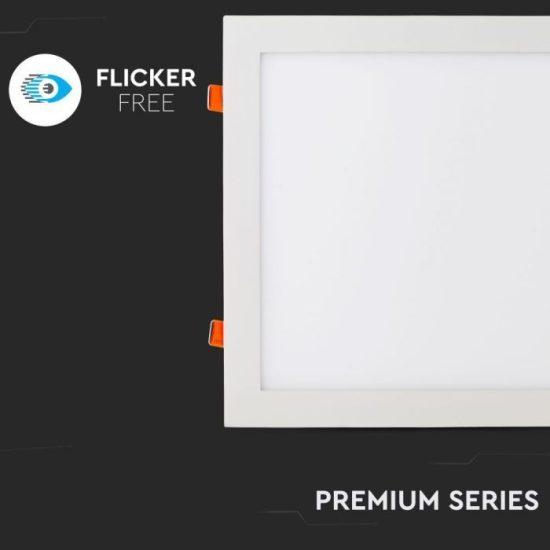 V-TAC PRÉMIUM LED PANEL / 24W / NÉGYSZÖG / 300mm / VT-2407SQ meleg fehér 4887