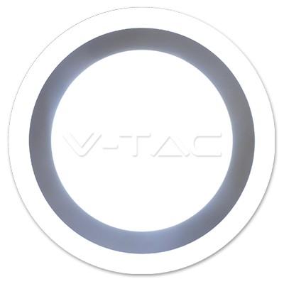 V-TAC FALON KÍVÜLI LED PANEL / 12 + 3W / KÖR / 200mm / VT-1509 meleg fehér 4893